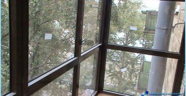 Kā glazūra balkons Hruščovs