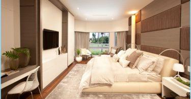 Guļamistabas interjera modernā stilā