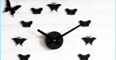 Kā tauriņi uz sienas ar rokām