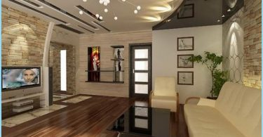 Griestu dizains dzīvojamā istaba