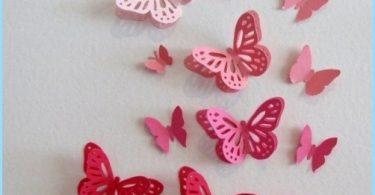 Dekoratīvie tauriņi rotā sienas
