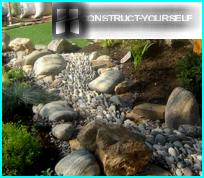 Dry Creek ar rokām dārzā un valstī - soli pa solim ierīces